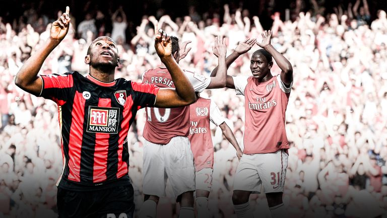Bournemouth's Benik Afobe will be looking to prove a point against Arsenal