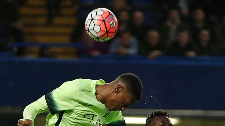 Tosin Adarabioyo had a tough test in defence for City but competed well
