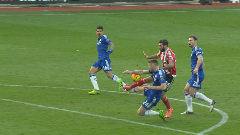 This Gary Cahill incident caused controversy