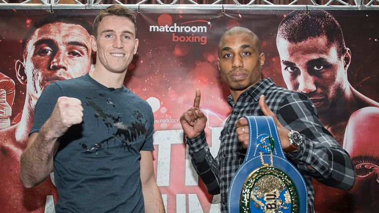 Callum Smith (left) and Hadillah Mohoumadi will fight on April 2