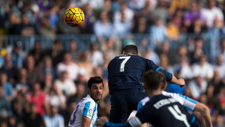 Ronaldo heads Real Madrid in front