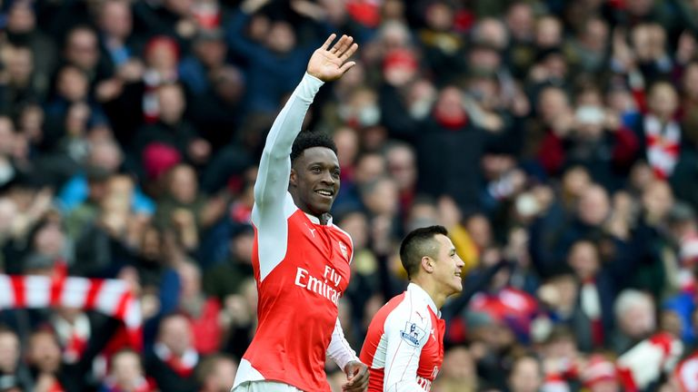 Danny Welbeck scored in the 95th minute for Arsenal