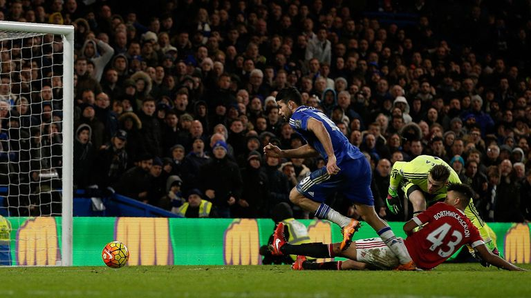 Diego Costa grabbed a late equaliser for Chelsea
