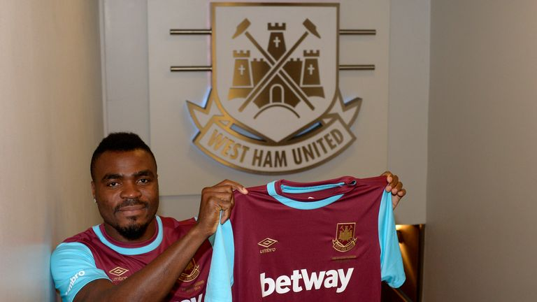 Emmanuel Emenike has joined West Ham on loan until the summer