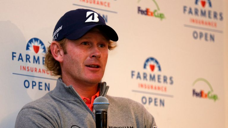 Brandt Snedeker spoke to the media after winning the Farmers Insurance Open