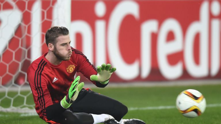 David De Gea was injured during the warm-up