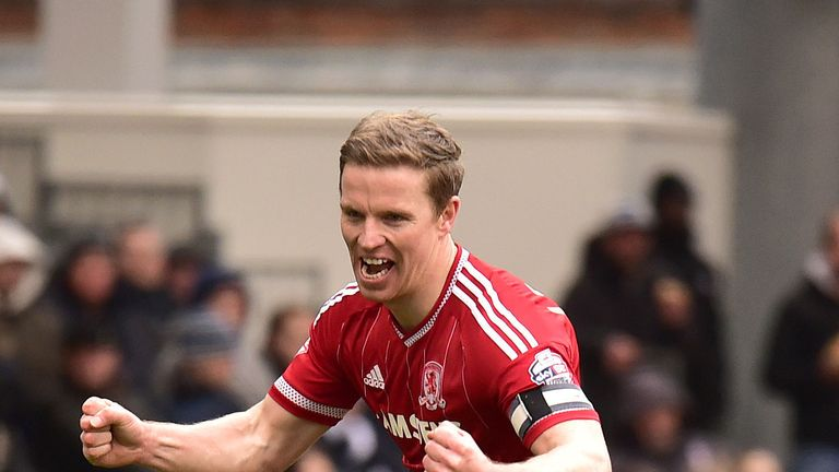 Middlesbrough's Grant Leadbitter celebrates scoring his side's second goal