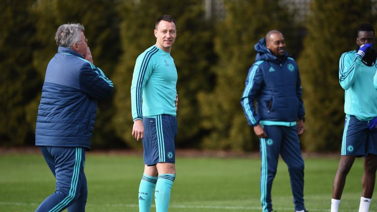Terry trained at Cobham on Monday, but is not available to face PSG