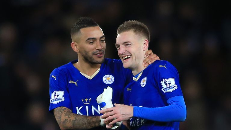 Jamie Vardy scored twice against Liverpool on Tuesday