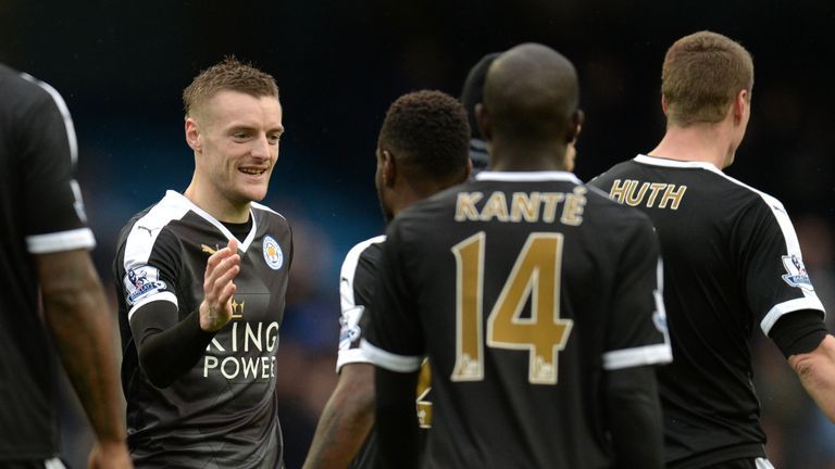 Jamie Vardy has been on superb form this season, scoring 18 goals in the Premier League