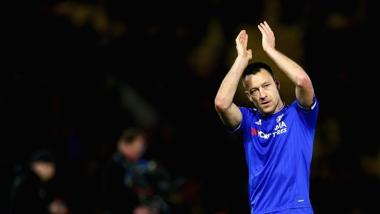 John Terry missed training on Tuesday and ruled himself out of the clash