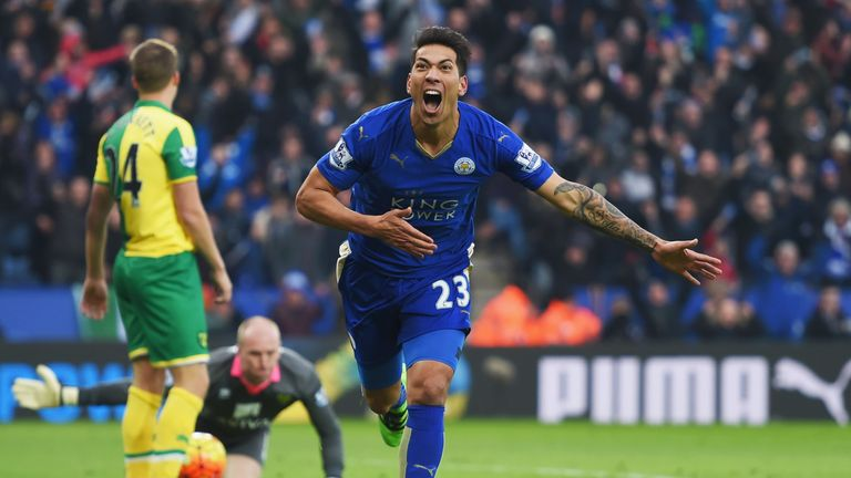 Leonardo Ulloa scored Leicester's winning goal against Norwich on Saturday