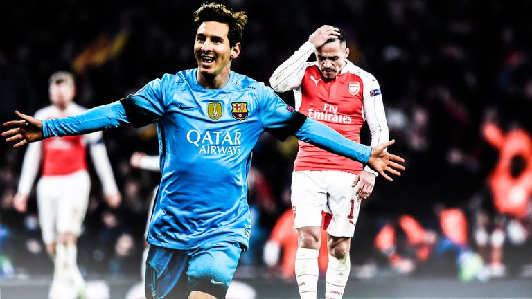 Lionel Messi scored twice as Barcelona triumphed against Arsenal