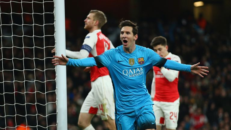 Arsenal face a two-goal deficit in their Champions League tie against Barcelona