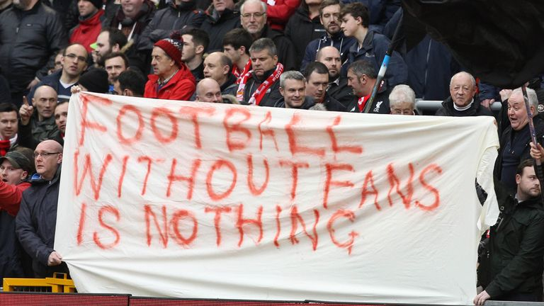 Liverpool fans staged protests over ticket prices yesterday