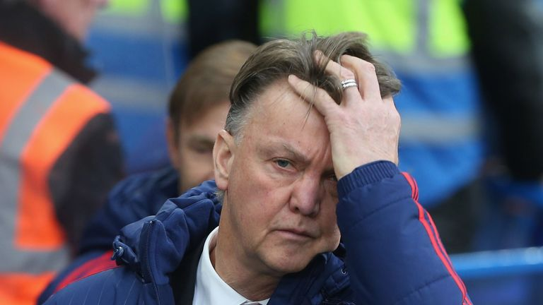 Louis van Gaal's Manchester United are off the pace for a top-four finish