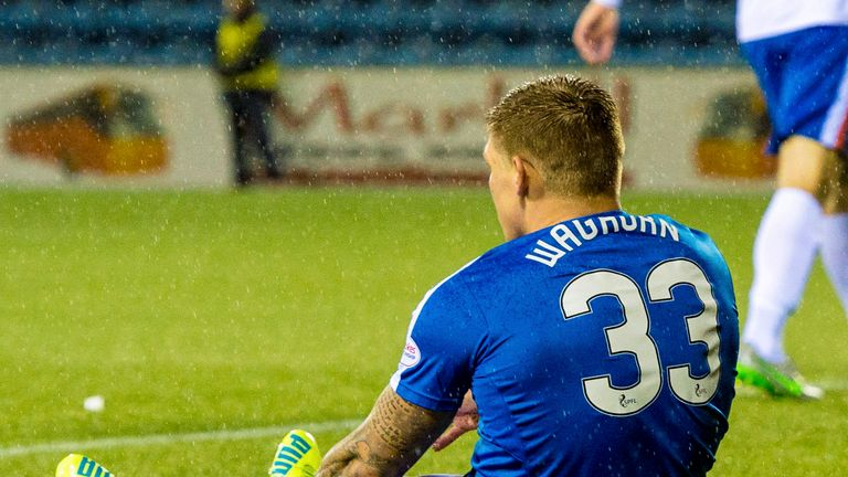 Rangers striker Martyn Waghorn was injured against Kilmarnock in the Scottish Cup