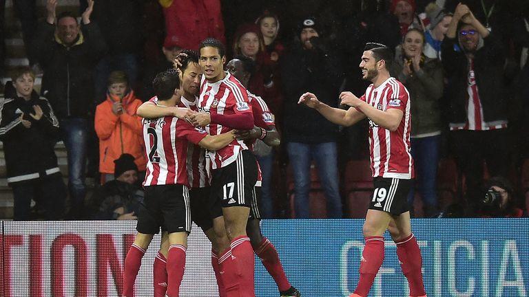 Southampton defender Maya Yoshida celebrates his goal