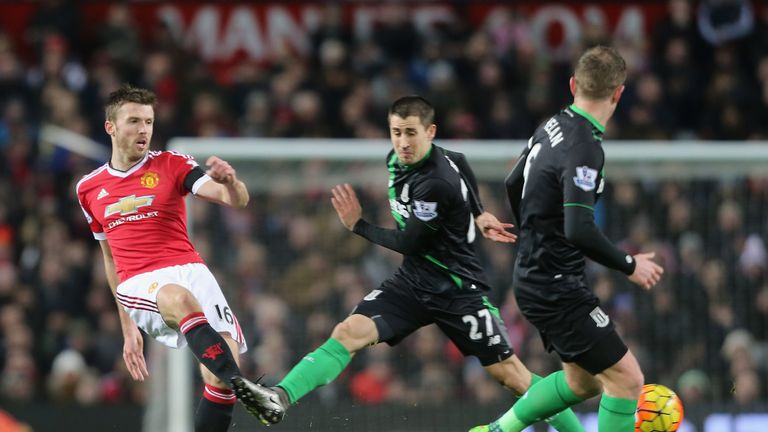 Michael Carrick was in the starting line-up for the first time since Boxing Day