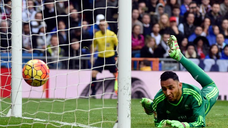 Keylor Navas cannot keep out late header