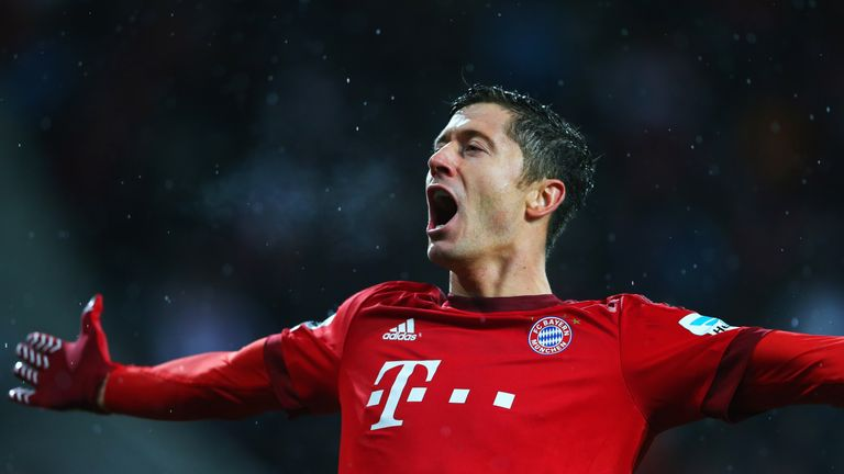 Robert Lewandowski is expected to lead the Bayern Munich line