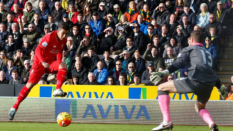 Roberto Firmino (left) has been voted PFA Fans' Player of the Month for January