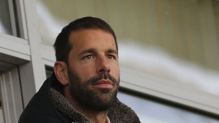 Van Nistelrooy scored 150 goals in 219 games for Manchester United