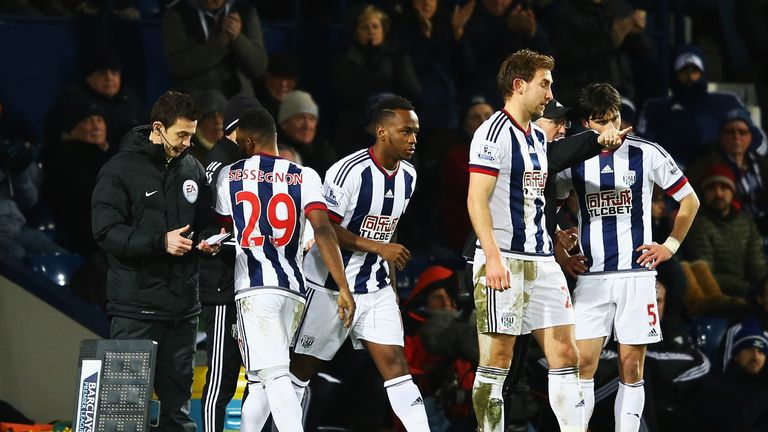 Saido Berahino came on for West Brom in the 62nd minute against Swansea
