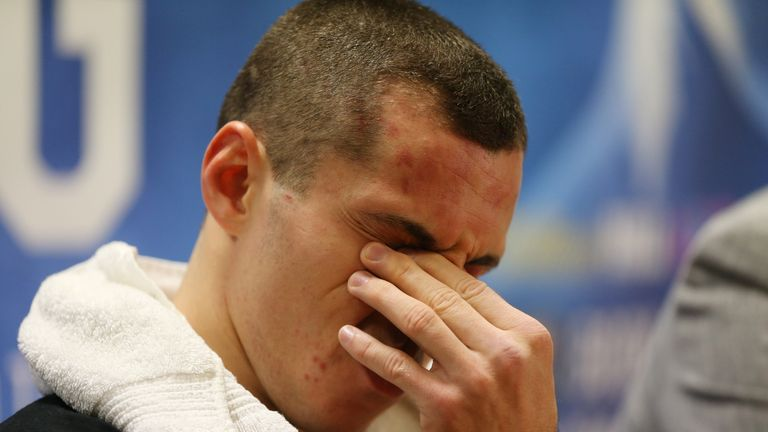 Scott Quigg is dejected after tasting defeat for the first time