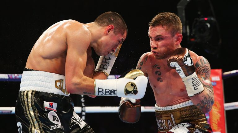 Scott Quigg is currently ahead of Frampton in the IBF rankings at featherweight