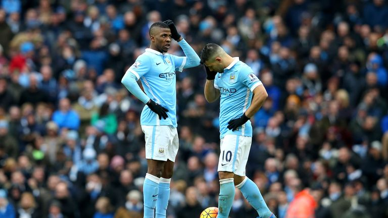 Manchester City's title hopes suffered a blow