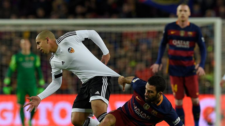Valencia lost the first-leg against Barcelona 7-0