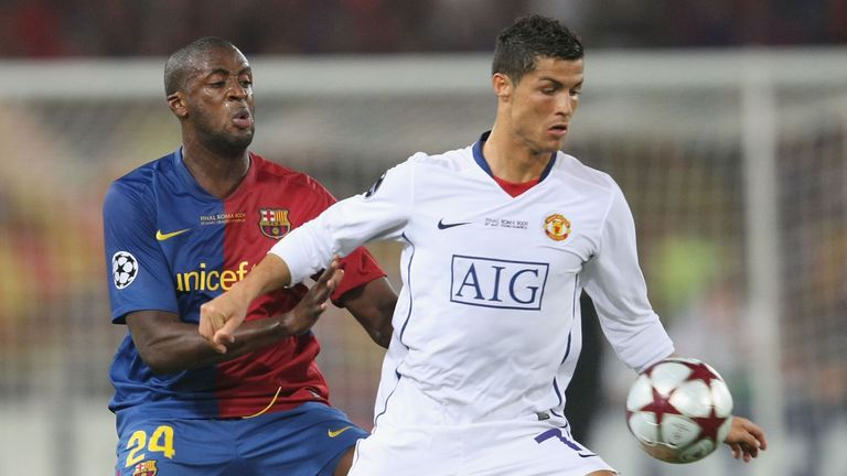 Toure played under Pep Guardiola at Barcelona between 2008 and 2010