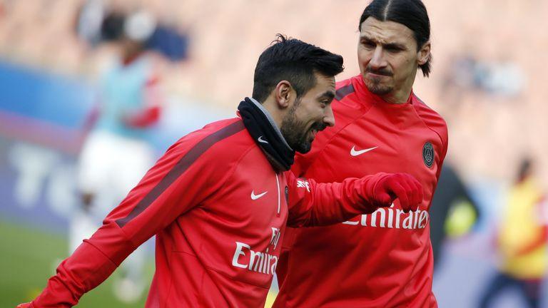 Ezequiel Lavezzi (left) has left PSG for the Chinese Super League