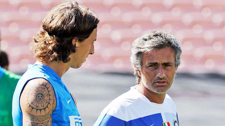 Zlatan Ibrahimovic and Jose Mourinho worked together at Inter Milan from 2008 to 2009