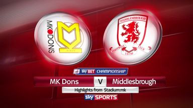 MK Dons 1-1 Middlesbrough