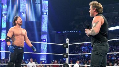 AJ Styles and Chris Jericho face off