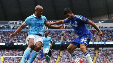 Vincent Kompany and Diego Costa went head-to-head in their Premier League clash in August
