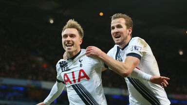 Goals from Christian Eriksen and Harry Kane earned Tottenham a 2-1 win at the Etihad