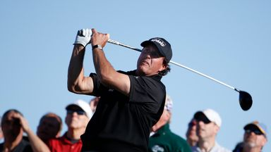 Phil Mickelson is in a great position to land his fifth Pebble Beach Pro-Am title