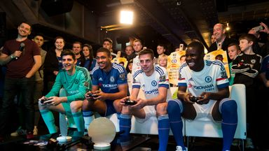 Thibaut Courtois and Ruben Loftus-Cheek took on Kurt Zouma and Cesar Azpilicueta at FIFA 16