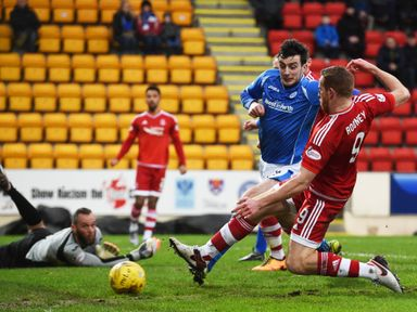 Aberdeen's Adam Rooney opens the scoring