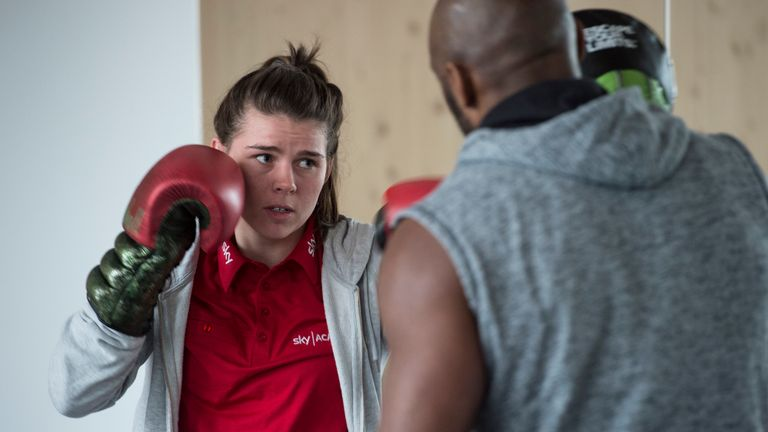 Savannah Marshall performed a boxing masterclass at Sky HQ this week