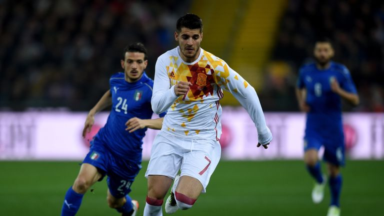 Vicente Del Bosque was also pleased with Alvaro Morata