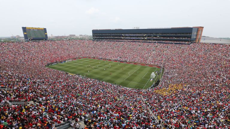More than 109,000 fans turned out for Manchester United's friendly with Real Madrid in 2014 in the United States