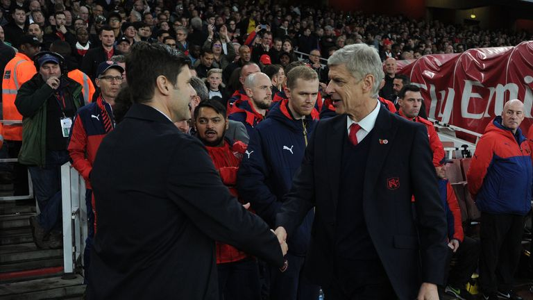 Mauricio Pochettino is the 12th permanent Tottenham manager Arsene Wenger has faced