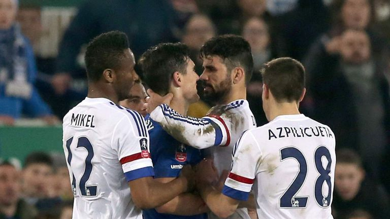 Diego Costa denies biting Gareth Barry during Saturday's FA Cup tie