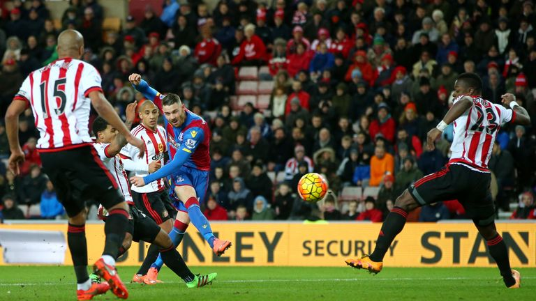 Connor Wickham scores Crystal Palace's equaliser against Sunderland in the 61st minute