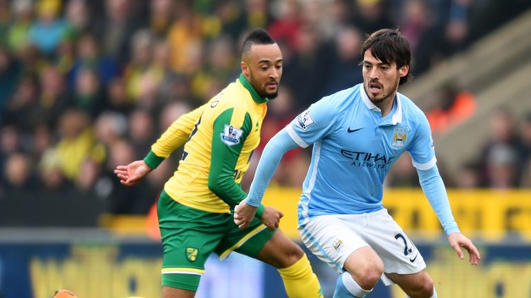 Manchester City crossed the ball 22 times at Carrow Road, but only five reached their target
