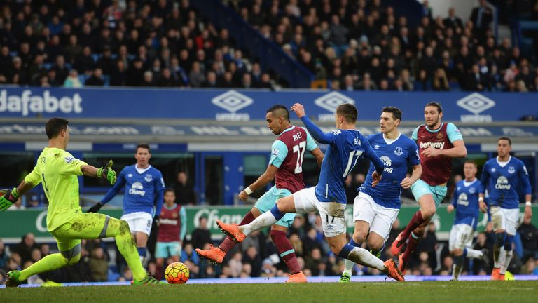 Dimitri Payet of West Ham United scores the winner